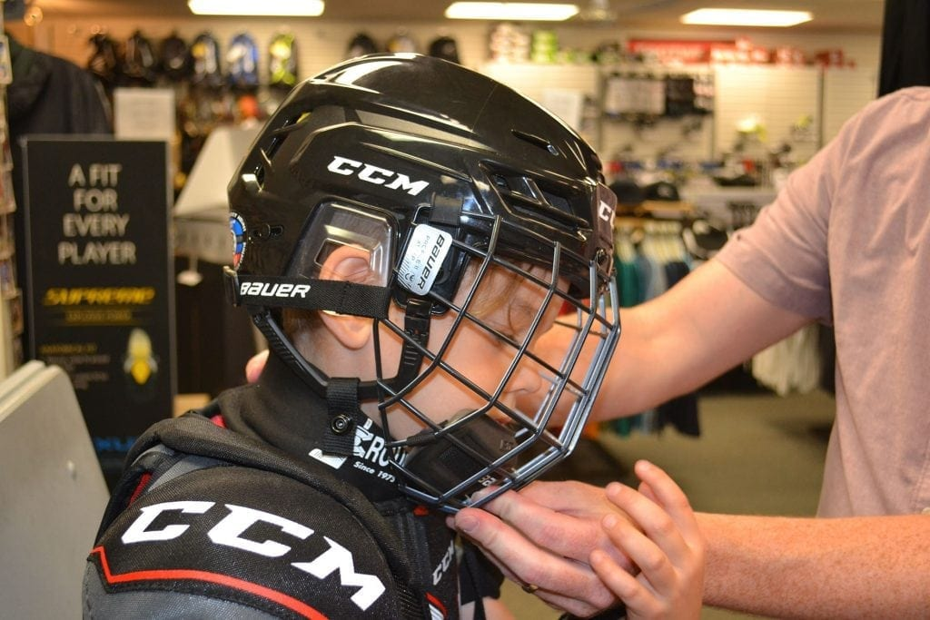 Hockey Helmet Fitting Chilliwack Hockey Equipment Store Sporting Goods
